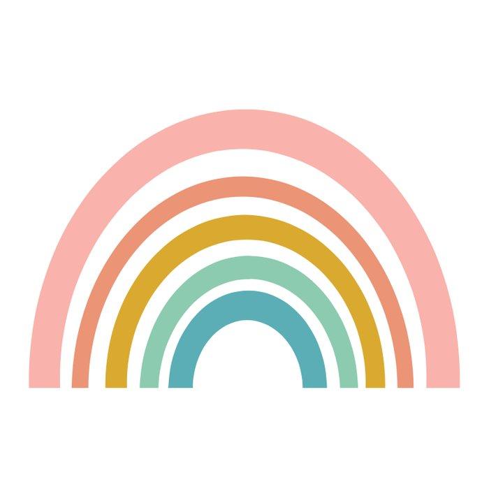 Simple Happy Rainbow Art Duvet Cover