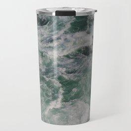 Waves In Niagara Falls | Landscape Photography | Minimalism | Water | Sea Waves | Green Ocean Waves Travel Mug