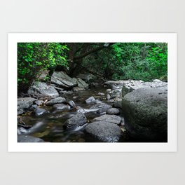 River flowing Art Print