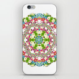 Flowers Cyrcle iPhone Skin