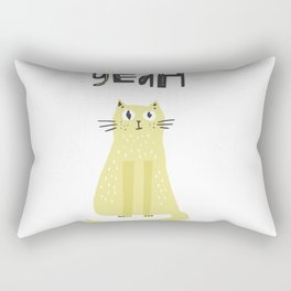 Yeah Cat Rectangular Pillow