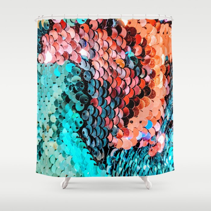 Sequin Shower Curtain
