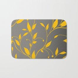FLOWERY VINES | grey yellow Bath Mat