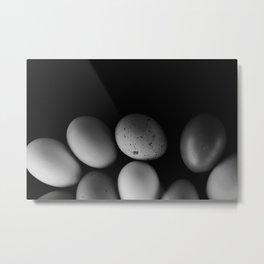 Moody Eggs Metal Print