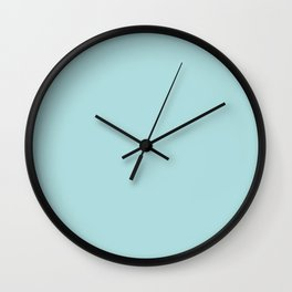 Robin's Egg Aqua Blue Wall Clock