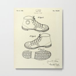 Tennis Shoe-1938 Metal Print