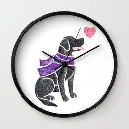 Watercolour Labrador Retriever Wall Clock