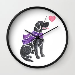 Watercolour Labrador Retriever Wall Clock