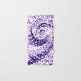 Ultra Violet Luxe Spiral Pattern   Trendy Color of the Year 2018 Hand & Bath Towel