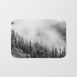 Fog in the Mountains | Black and White Photography | Landscape | black-and-white | bw Bath Mat