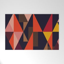 Vintage vibes_in warm hues Welcome Mat