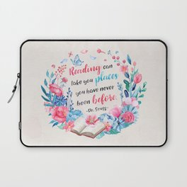 Reading can take you places Laptop Sleeve
