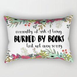Buried By Books Rectangular Pillow