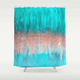 Copper Gold Splash Shower Curtain