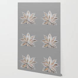 Gray Agave with Gold Glitter #1 #shiny #tropical #decor #art #society6 Wallpaper