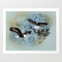Calling Eagle Art Print