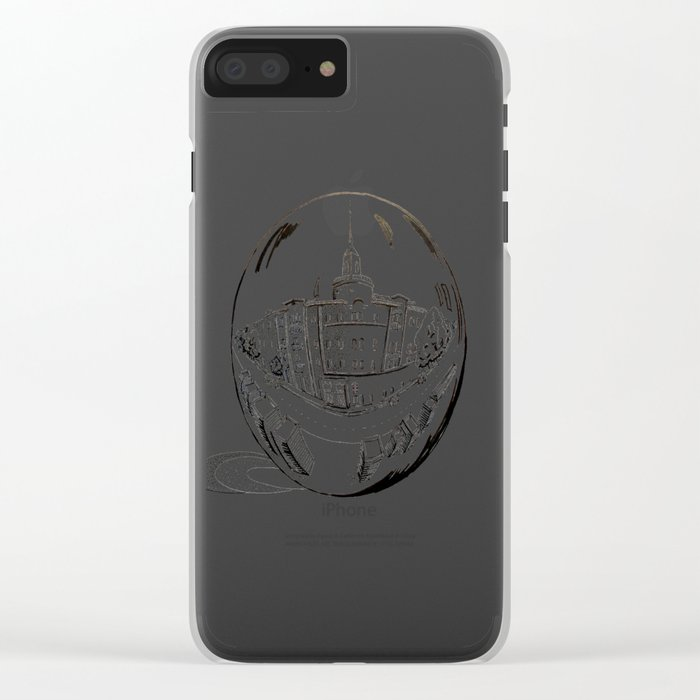 City in a glass ball . Art Clear iPhone Case