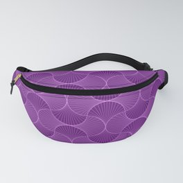 Lilac Abstract Flower Petals Pattern Fanny Pack