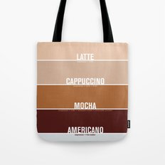 four shades of coffee + ingredients Tote Bag