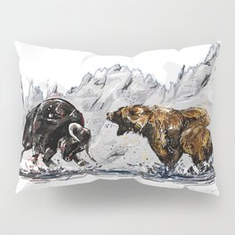 Bull and Bear Pillow Sham