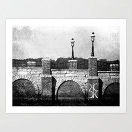 Grunge Bridge Art Print