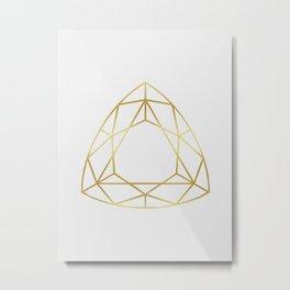 Golden diamond IV Metal Print
