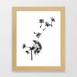 Dandelion Drawing Framed Art Print