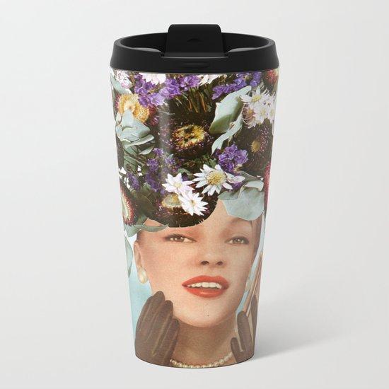 Floral Fashions III Metal Travel Mug