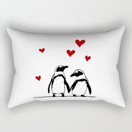 Love Penguins Rectangular Pillow