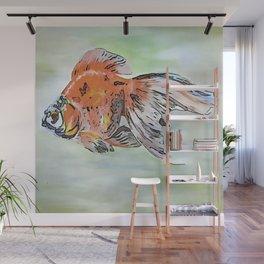 Cartoon Style Ryukin Goldfish Wall Mural