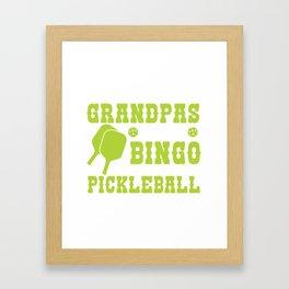 Awesome Shirt For Pickleball Lover. Framed Art Print