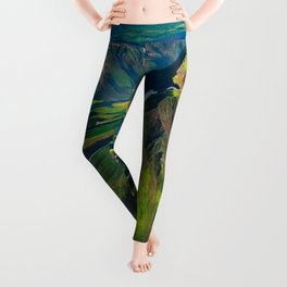 Green Mountain Iceland Leggings