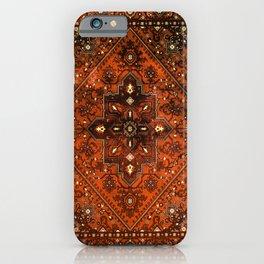 N151 - Orange Oriental Vintage Traditional Moroccan Style Artwork iPhone Case