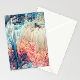 Fairyland - Abstract Glitchy Pixel Art Stationery Cards