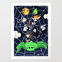 Lilwickidz Spiderweb Poster Art Print