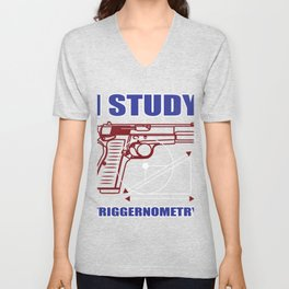 Student Weapon Triggernometry Deduction Funny Gift Unisex V-Neck
