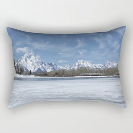 Grand Tetons and Snake River from Oxbow Bend Rectangular Pillow