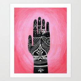 Mehndi Hand Painting Art Print
