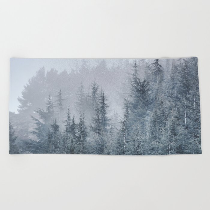 Early moorning... Into the woods Beach Towel