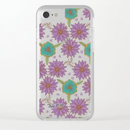 Floral Pattern #2 Clear iPhone Case