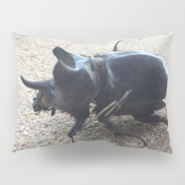 Rhinoceros beetle Pillow Sham