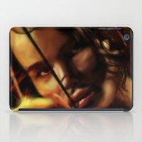 katniss iPad Cases featuring Katniss by tgronberg