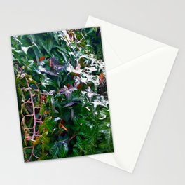 Amber leaves in winter Stationery Cards