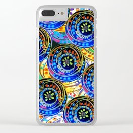 Circle design Number 5 Clear iPhone Case