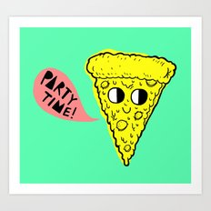 Party Time Pizza Art Print