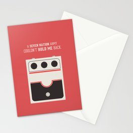 White Striped Stationery Cards