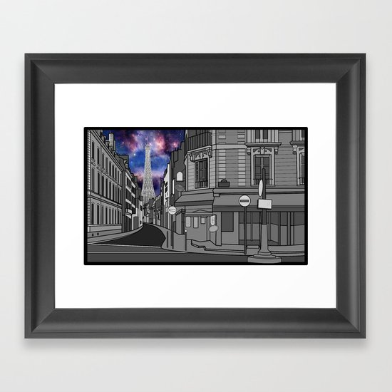 Paris: The Center of the Universe Framed Art Print