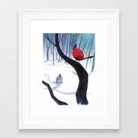 cardinal Framed Art Prints featuring Cardinal by iherring