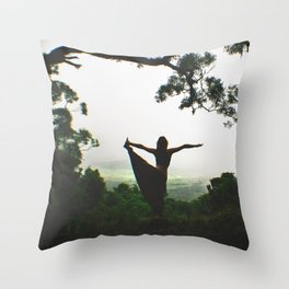 Forest Yoga Throw Pillow