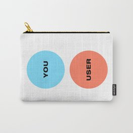 You Are Not The User - UX Design Venn Diagram Carry-All Pouch